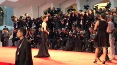 Mia Wasikowska red carpet Stock Footage