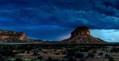 chaco canyon sunset 4k - stock footage