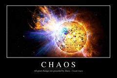 Chaos: Inspirational Quote and Motivational Poster - stock illustration