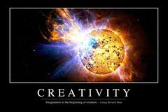 Creativity: Inspirational Quote and Motivational Poster - stock illustration