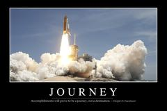Journey: Inspirational Quote and Motivational Poster - stock photo
