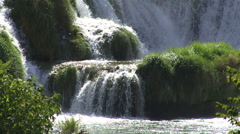 Healthy and relaxing place with waterfall Croatia Stock Footage