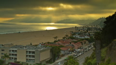 Pacific Palisades Timelapse Stock Footage