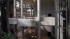 Futuristic Building Atrium Stock Footage