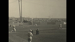 Vintage 16mm film, 1934, New Jersey, baseball game with photographers Stock Footage