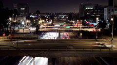 Downtown LA at Night The Slot - stock footage