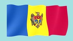 Moldovan flag .  Waving PNG. - stock footage