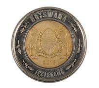 Detail of Botswana Pula coin - stock photo