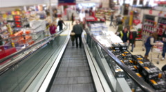 Shopping Mall Escalator - stock footage