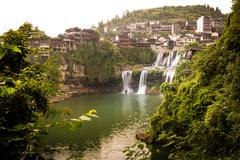 Furong village in Hunan province - stock photo