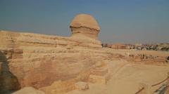 The Sphinx, Egypt Cairo Stock Footage