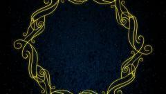 Ornamental Frame Background Stock Footage