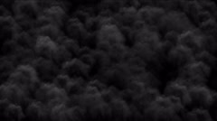 4k Cloud smog explosion smoke gas in darkness background,military explosives. Stock Footage