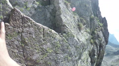 Hiking and climbing in the Tatra mountains - stock footage