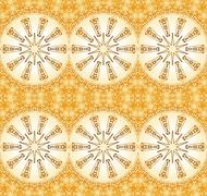 Seamless star pattern light brown gold - stock illustration