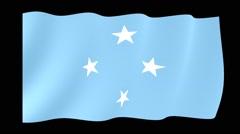 Micronesian flag .  Waving PNG. Stock Footage