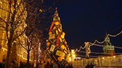 New Year fir-tree - stock footage