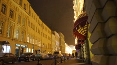 New year illuminations on the building Stock Footage