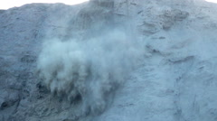 Stock Video Footage of Avalanche falling down of volcano, super slow motion 240fps