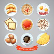 Stock Illustration of Poster With Breakfast Set