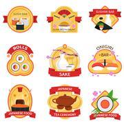 Stock Illustration of Sushi Label Set