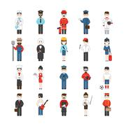 Cartoon Characters Of Different Professions - stock illustration