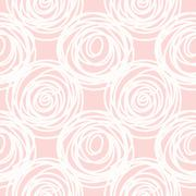 Hand drawn seamless pink scribble swirl texture - stock illustration