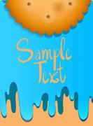 Poster design with cookie - stock illustration