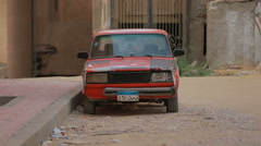 Cairo, EGYPT -  The Soviet car stands in Cairo Stock Footage