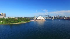 Sydney Harbour on a sunny day Stock Footage