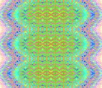 Seamless ellipses pattern pink turquoise - stock illustration