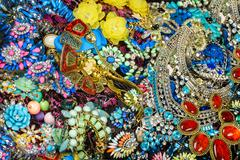 bijouterie background close up - stock photo