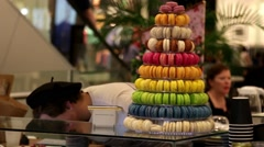Tower of Macarons Stock Footage