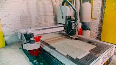 Machine for door production Stock Footage