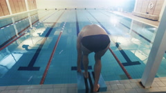 Aerial Overhead Shot of Professional Swimmer Performing Front Crawl - stock footage