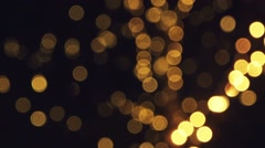 Blinking led light bokeh, holiday decoration - stock footage