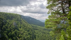 Motion panorama in mountains - stock footage