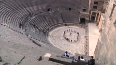 Amphitheater in Bosra - stock footage