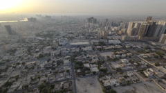 Cityscape of Ajman from rooftop morning after sunrise timelapse. Ajman is the Stock Footage