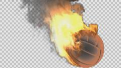 Burning volleyball ball rendered in PNG with alpha channel Arkistovideo