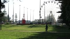 Ferry Wheel in Park Fremantle Stock Footage