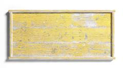 Blank painted yellow weathered sign post,isolated on white background. Stock Illustration