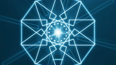 abstract light music clip backgorund 4K Blue - stock footage