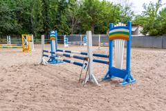 Riding competition. Obstacles for horse jumping event Kuvituskuvat