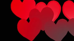 Red Animated Hearts Beat Stock Footage
