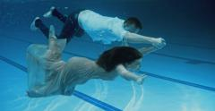 Underwater Dating - stock footage