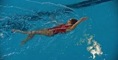 Backstroke Swimming Stock Footage