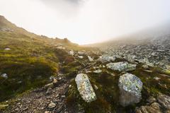 Stock Photo of Mist beginning to appear RohrmoosUntertal Schladming Tauern Styria Alps