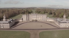 Aerial shot of Hopetoun house in South Queensferry Stock Footage