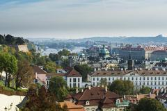 Overlook over Prague from the Prague castle Prague Czech Republic Europe - stock photo